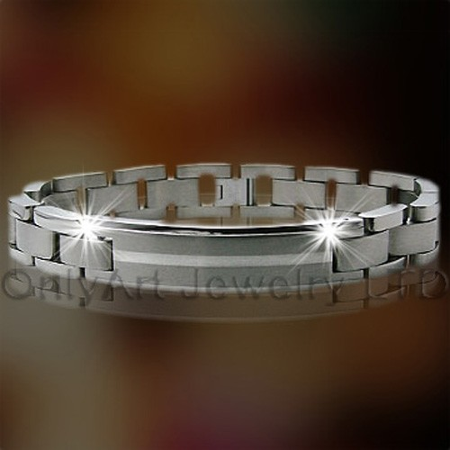 316l roestvrij staal Zircon armband OATB0023