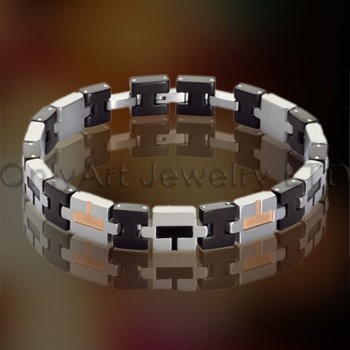 Titanium of staal ontwerper armband OATB0057