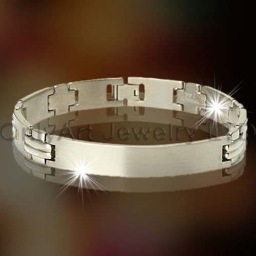 Titanium of roestvrij staal ID Armband OATB0048