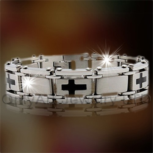 Roestvrij staal email armband OATB0050