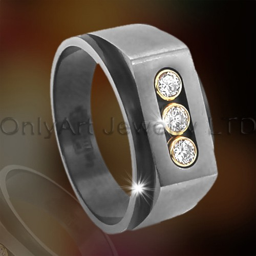 Titanium of roestvrij staal grote Ring OATR00101