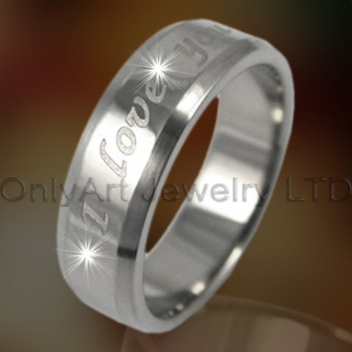 Titanium of staal Engraving Rings OATR0153