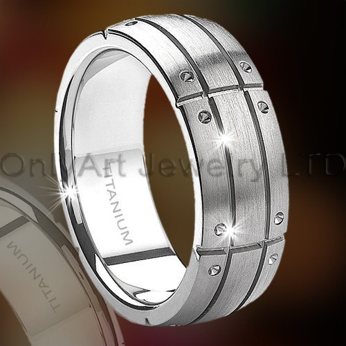 Mens Titanium Ring OATR0277